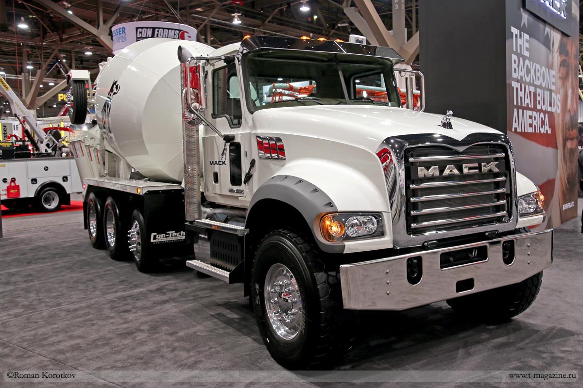 Автобетоносмеситель на шасси Mack truck
